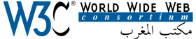 The World Wide Web Consortium (W3C) Moroccan Office logo